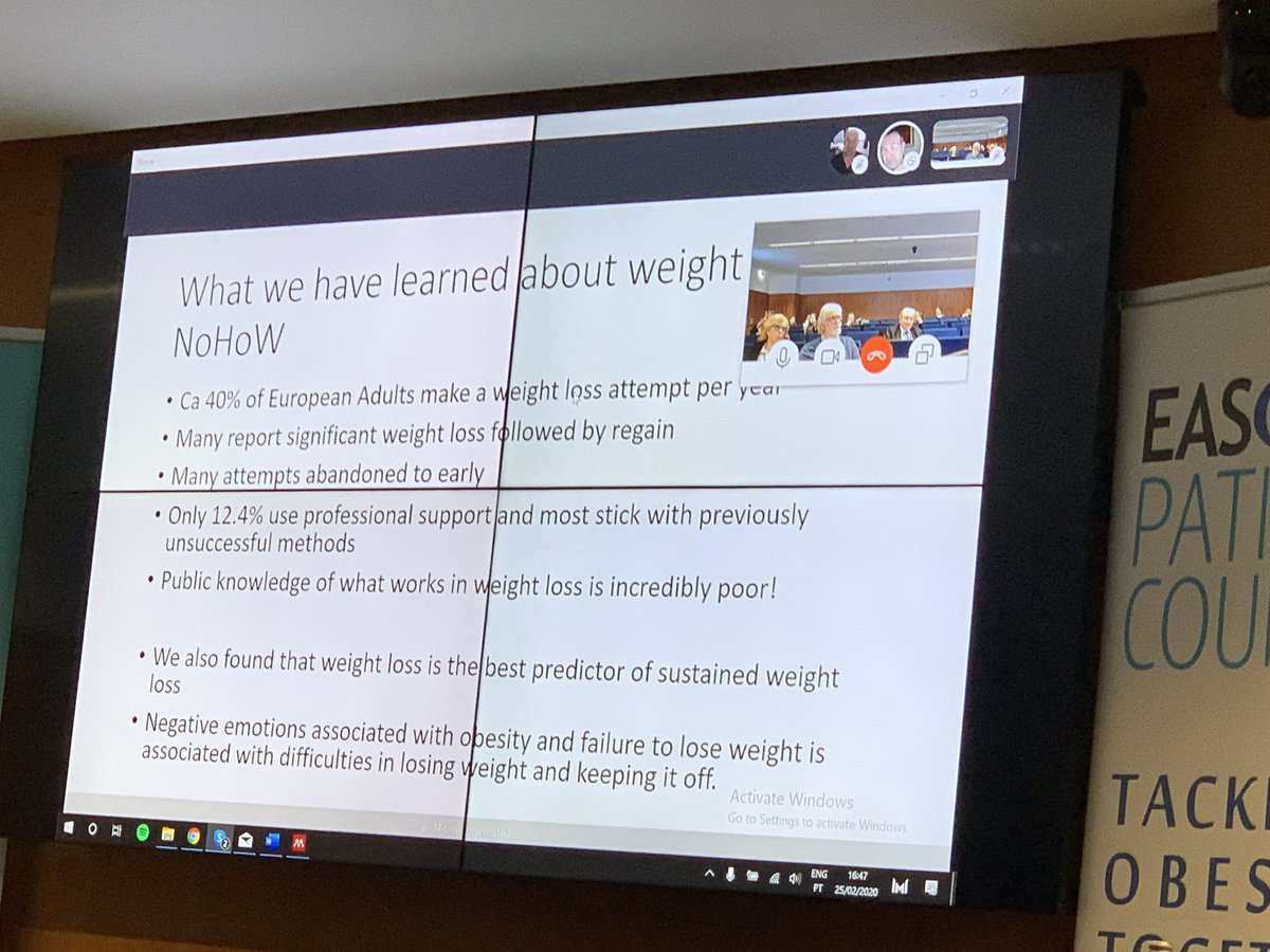 """@FSniehotta at #EASOCOMs @NoHoWH2020 @EASOobesity   """"What the public knows about #weightloss maintenance is appalling!""""pic.twitter.com/EnjFgWmt6h"""