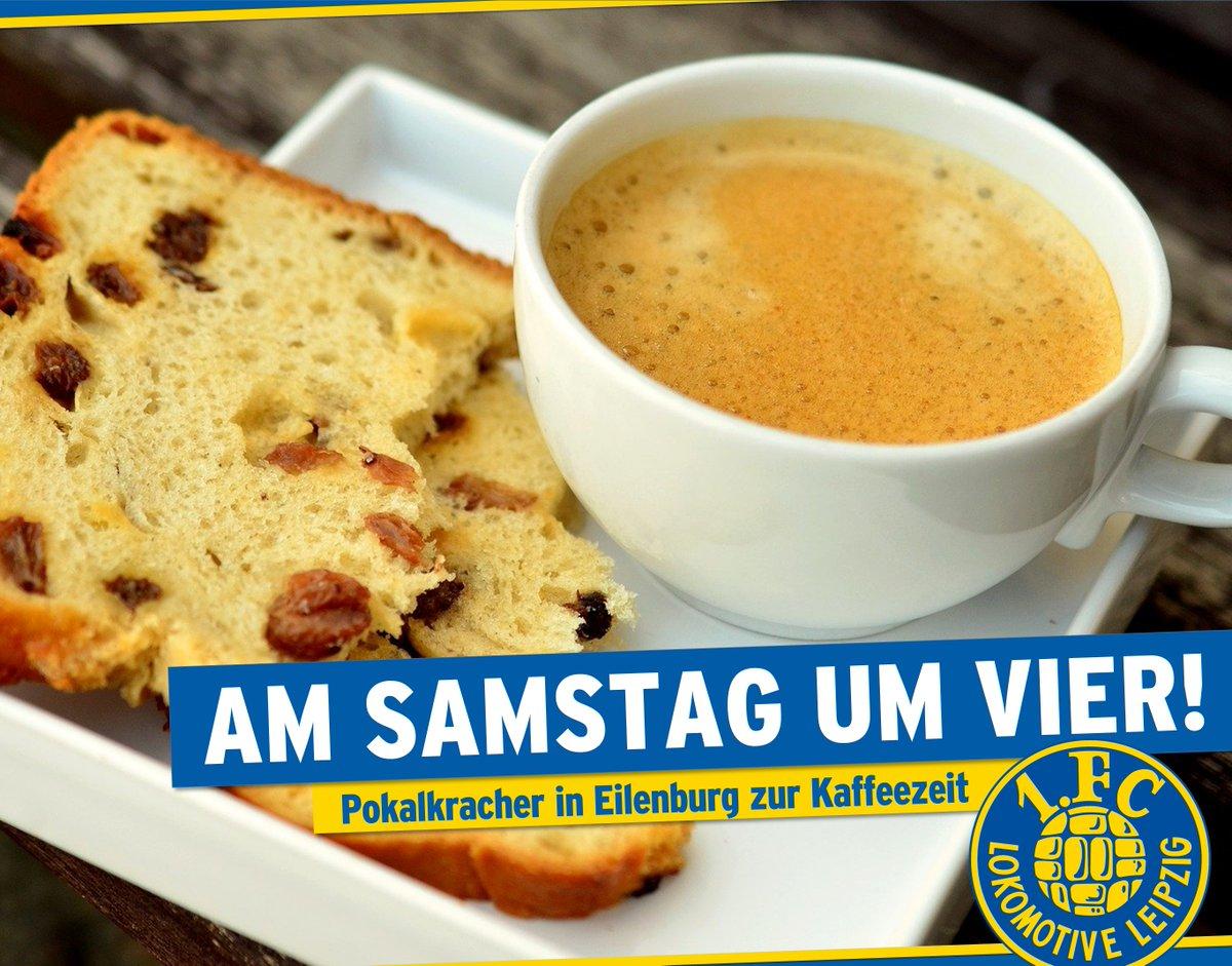 AM SAMSTAG UM VIER  +++ Pokalkracher zur Kaffeezeit  +++  Der @sfv_online hat den Termin für das Halbfinale im Landespokal festgelegt.  Der 1. FC Lok gastiert am Sonnabend, dem 28. März 2020, beim Oberligisten FC Eilenburg. Anstoß ist 16 Uhr.   #EILLOK #fußballpur #lokleipzigpic.twitter.com/CEEKw29tYL