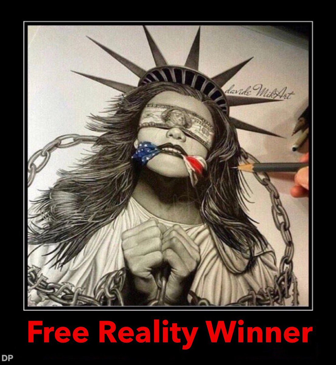 Free #Whistleblower #RealityWinner now. She sits in prison while Trump pardons crooks, thugs and thieves. Enough is a damn enough.