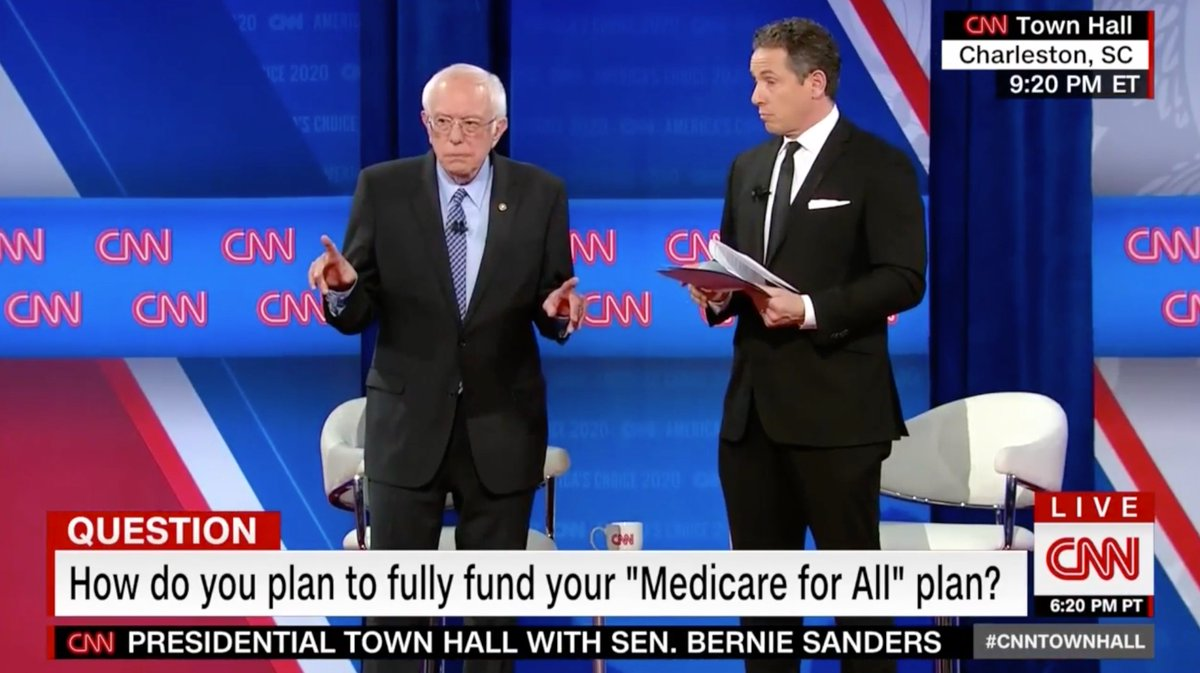 """🚨 WATCH → Bernie Sanders gets called out while attempting to unveil his radical """"plan"""" to pay for all his socialist fantasy programs because it didn't even cover half the costs.  Dems aren't serious. They have no plan to actually govern."""