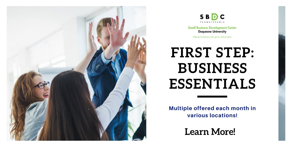 Did you know we offer First Step workshops in multiple locations? If you can't join us at our main base, come to Wexford, Beaver, New Castle/Lawrence or Butler! Here's a link to our upcoming workshops: https://www.sbdc.duq.edu/Workshops #pittsburgh #westernpa #smallbusiness #duquesnepic.twitter.com/2fEveb6fVZ