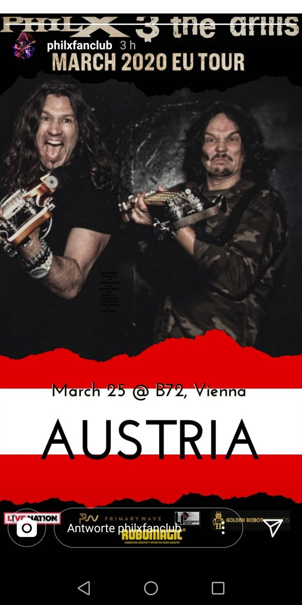 1 month till we get DRILLED #rocknroll #philxthedrills #Vienna #getready #B72 #gig #VIP #meetandgreet #soundcheck #hyperXcitedpic.twitter.com/pMo1o4vG7Q