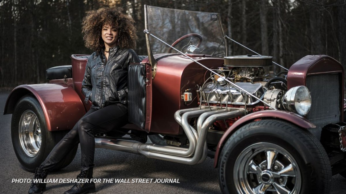 """test Twitter Media - """"I have been into cars even longer than I have been into music."""" Musician Kandace Springs shows off her car with parts from two 1920s Fords and a dump truck. https://t.co/C5qiQFzN4M https://t.co/h6p0uNGIpw"""