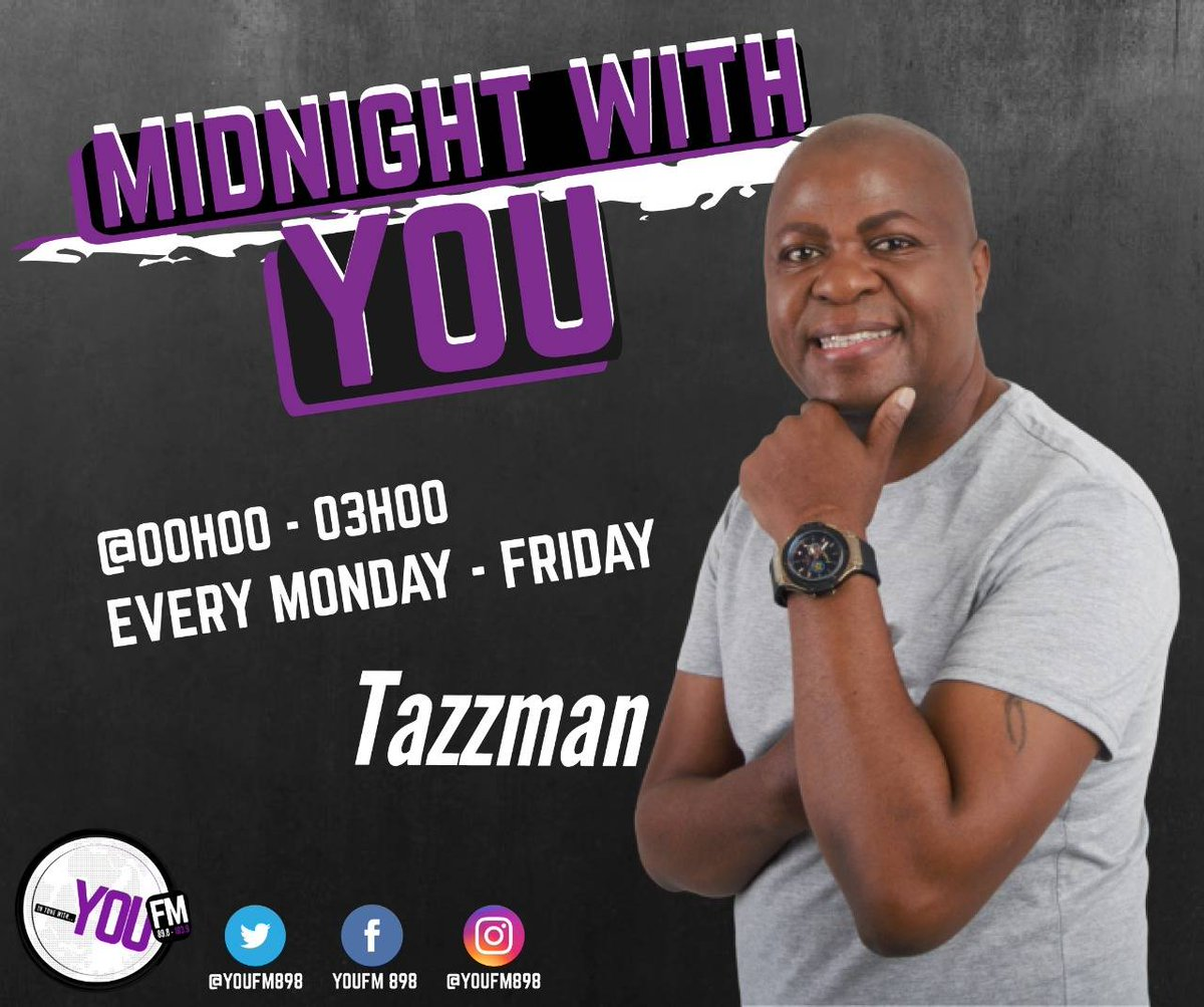 It's late night conversations with @tasingo on #MidnightWithYOU  IN TUNE WITH YOU  DSTV Channel 842  #CelebratingYOU #YOUInspireUs