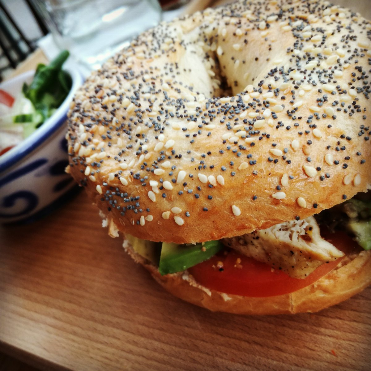 #Bagel #food #cooked