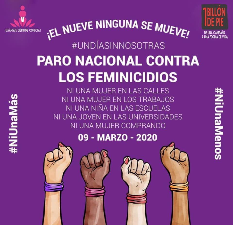 """25 Feb is #OrangeDay & we at #1BillionRising/#VDay Mexico take the opportunity to support the #NationalWomensStrike on 9 March!"" - (📸) @naiime, OBR Mexico Coord  #DiaNaranja #ParoNacionalDeMujeres #UnDiaSinMujeres #UnDiaSinNosotras #RiseInSolidarity #UntilTheViolenceStops"