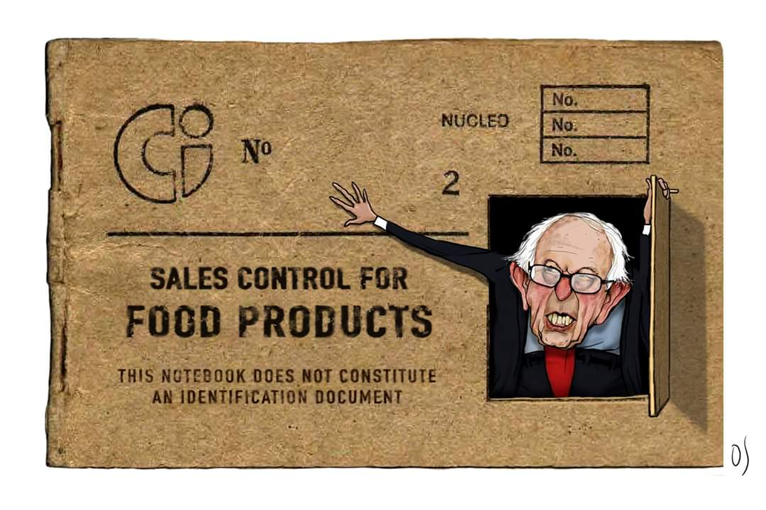 Does #BernieSanders know that in #Cuba the regime sells the #food in one #currency and pays the #Cubanpeople in another that is worthless? Even #bread in Cuba has to be baked by the government. I'd like to see this guy living off this ration book 🤣 And no remittances!