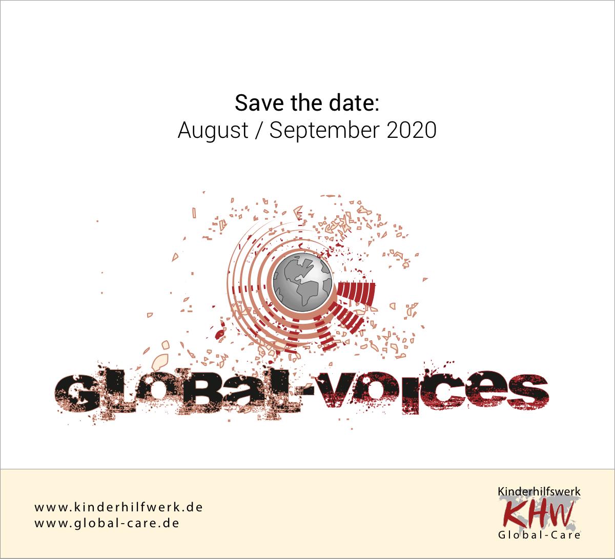 Save the date: Die Global Voices kommen im August/September 2020 nach Deutschland.  #globalvoices #chor #uganda #nepal