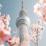 春を感じるスカイツリーと東京タワー!あなたはどちらが好きですか?