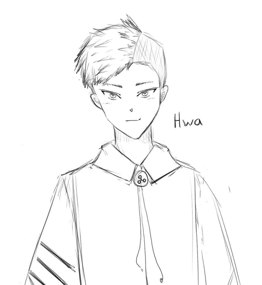 Daily sketch#15 another one of my oc!  His name is Hwa  #art #drawing #digitalart #sketch