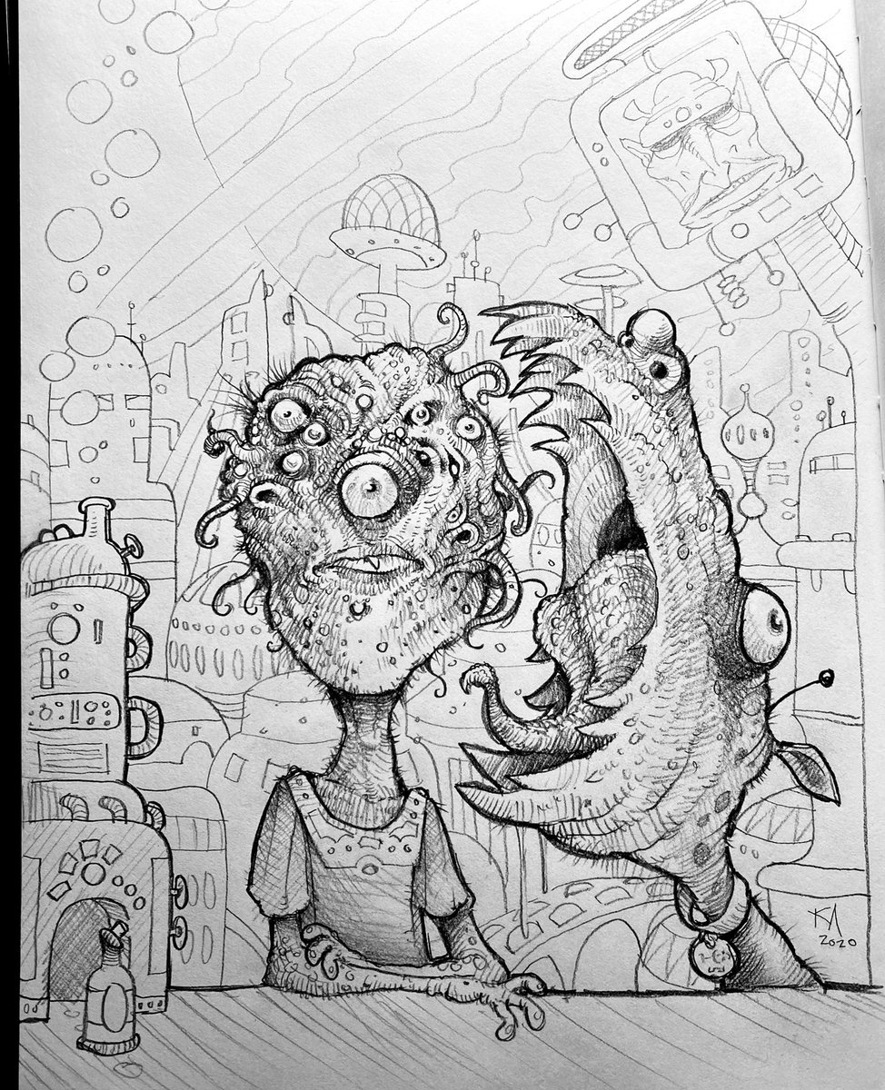#art #drawing #sketchbook #aliens #scifi #monsters #mutants #puppy #pet