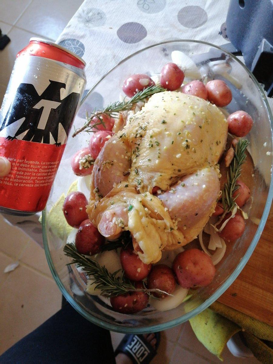 Gustan... Una buena combinación, pollito a la cerveza #Food #IloveCook #Inspirada