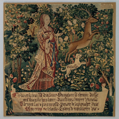 Nature Sets Her Hound Youth after the Stag (from The Hunt of the Frail Stag)  #metmuseum #MedievalArt