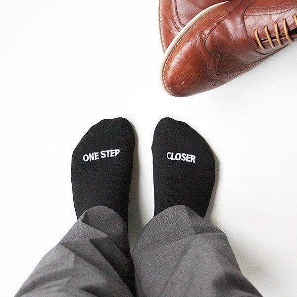"Grooms Socks 'One Step Closer"" Twilight Saga, A Thousand Years, Christina Perri, Wedding gift, Groom Gift  #Etsy #GroomSocks #Wedding"