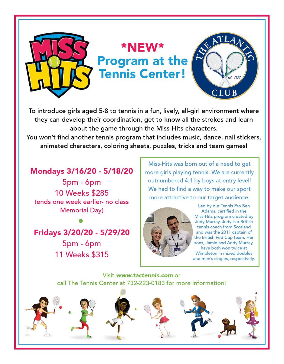 New and exciting program at the @TACTennis in New Jersey!  @Miss_Hits #misshits #funactivities #fun #exciting #girlstennis #girls #sport #sportactivity #tennisjuniors #tennis #tennisfun