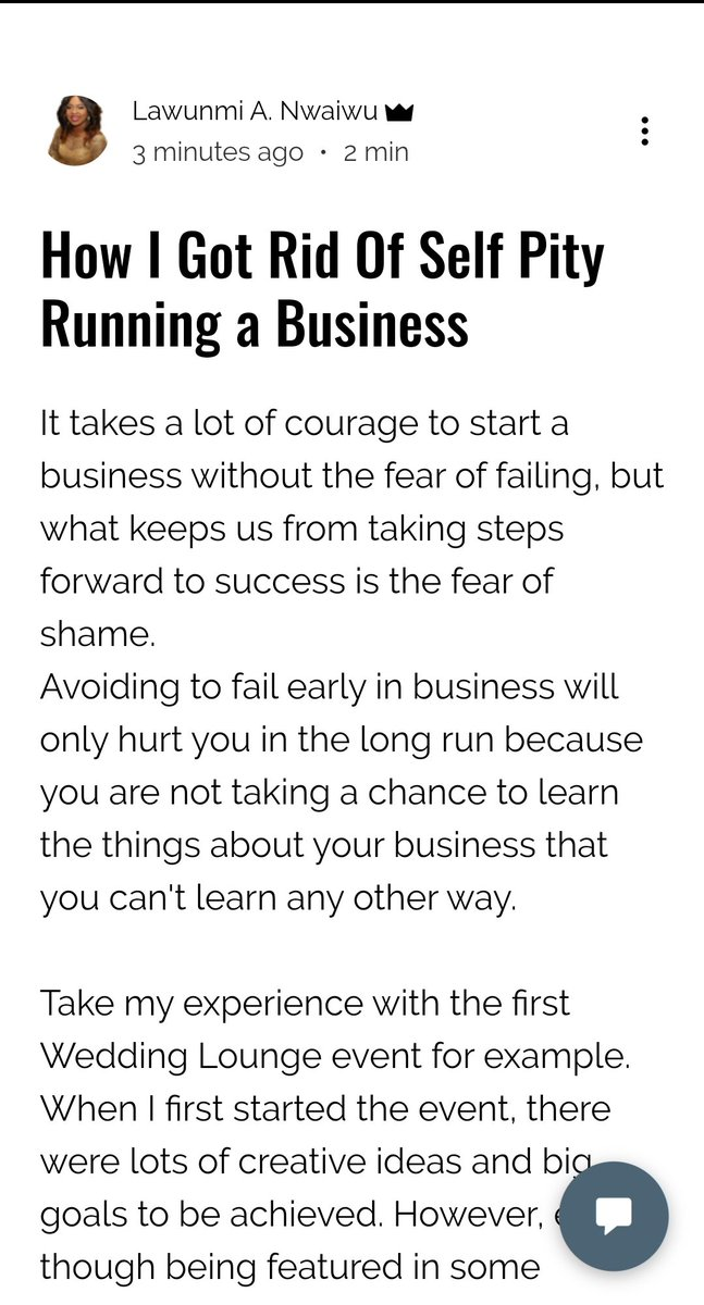 New blog post is out.. Been able to bounce back as an entrepreneur is essential. Read more https://www.lawunmianwaiwu.com/post/how-i-got-rid-of-self-pity-running-a-business…  #entrepreneurs #womeninspiringwomen #newbook #startup #inspiringpeople #successful #lifestyle #PressReleasepic.twitter.com/0MFBRMnPm2