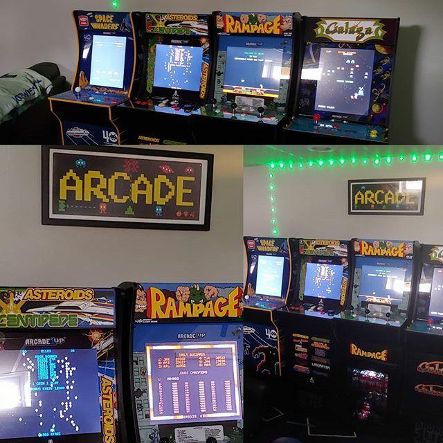 The set so far. #retrogaming #videogames #gameroom #arcade1up #arcade #homearcade #mancave #gamer https://ift.tt/2Vor4NM