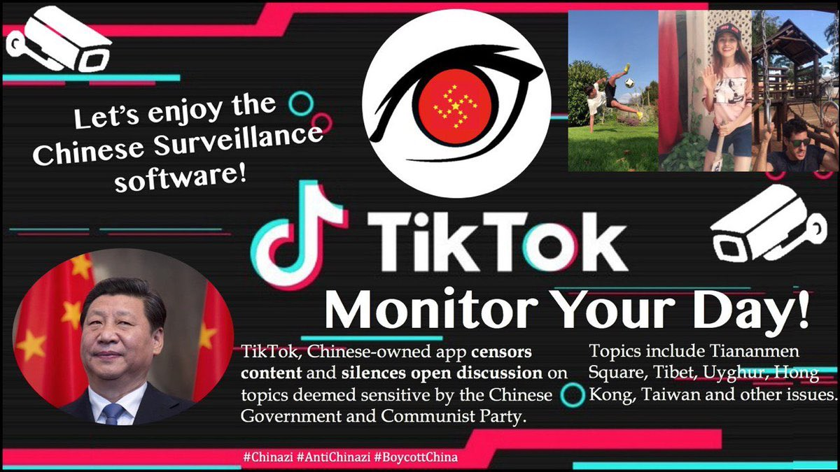 Please stop using #TikTok   Big brother is watching you