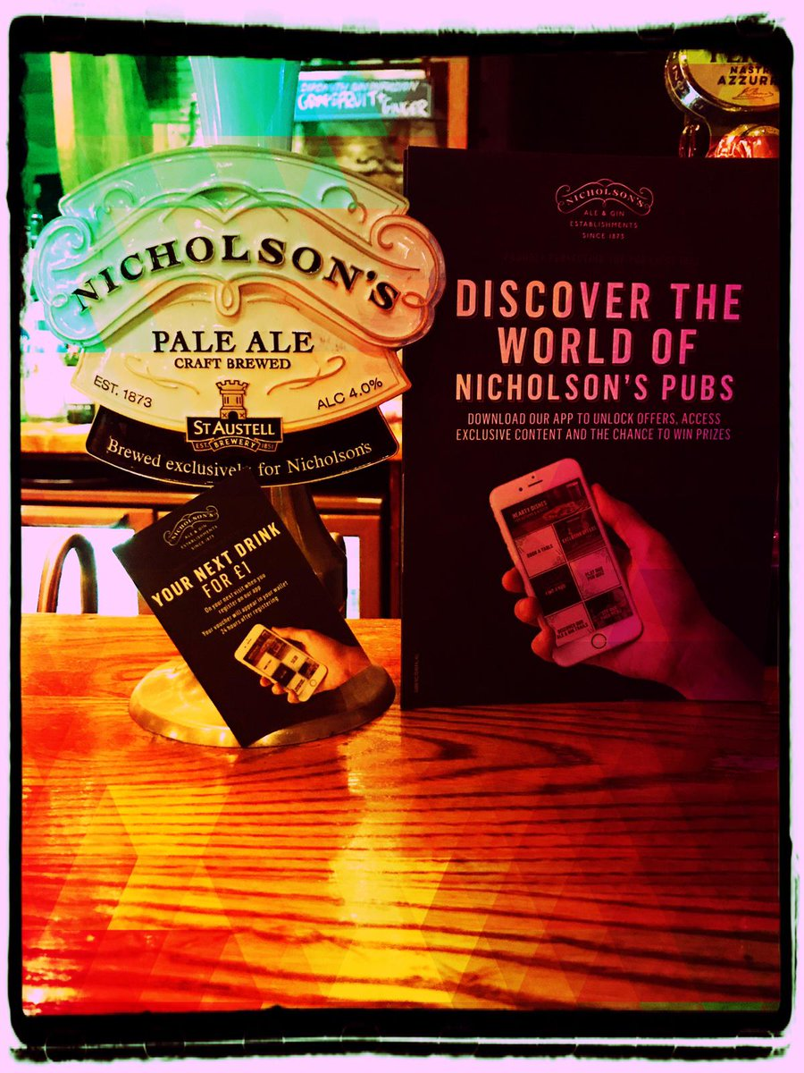 Fancy your next drink for £1? Download the @Nicholsonspubs app and receive exclusive offers and discounts. #Mitre #Cambridge