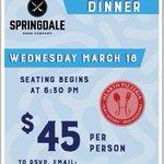 Image for the Tweet beginning: ?Beer dinner with Springdale Beer
