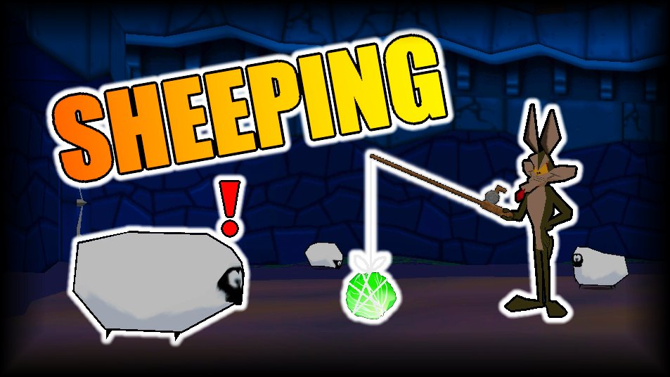 You can use fishing rods for may more than you'd think!  Episode 14 of Sheep, Dog n' Wolf is out! #LooneyTunes #Castle #Fishing #YouTube #YouTuber #YouTubeGaming #Gaming #GamingChannel #Gamer #Gamers