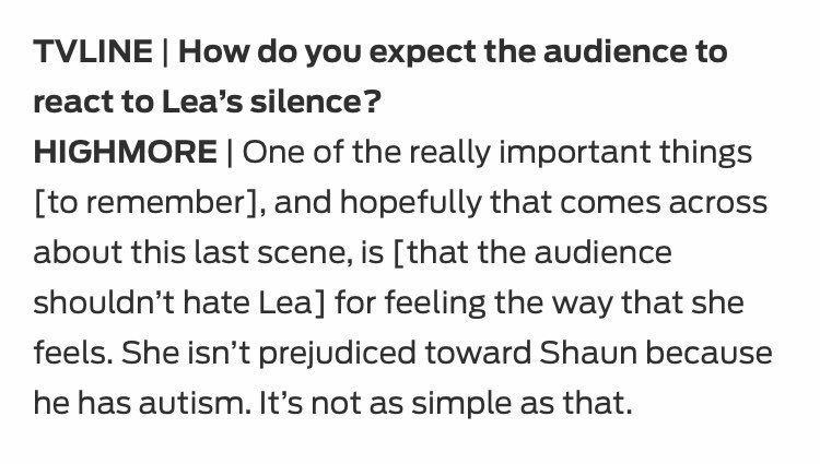Thought I would just drop this here from that TVLine interview with Freddie & Paige... #TheGoodDoctor  https://tvline.com/2020/02/24/the-good-doctor-recap-season-3-episode-16-shaun-lea/…pic.twitter.com/vGDzsSZZRl