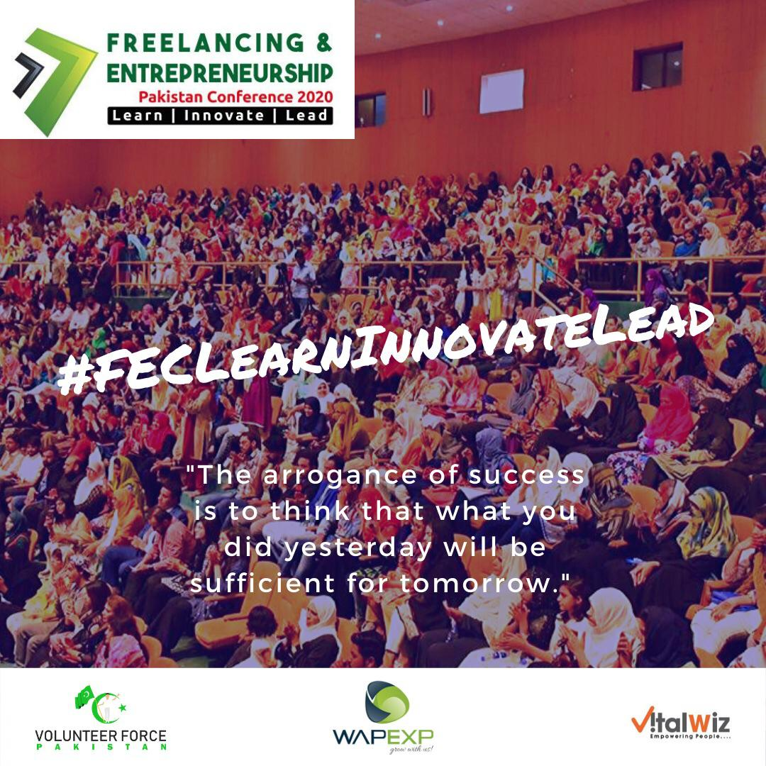 New innovations in business & technologies serves as  building blocks of Nation. They help in building economical infrastructure of country #FECLearnInnovateLead pic.twitter.com/Elp58XwoO0pic.twitter.com/UAHqf650rv