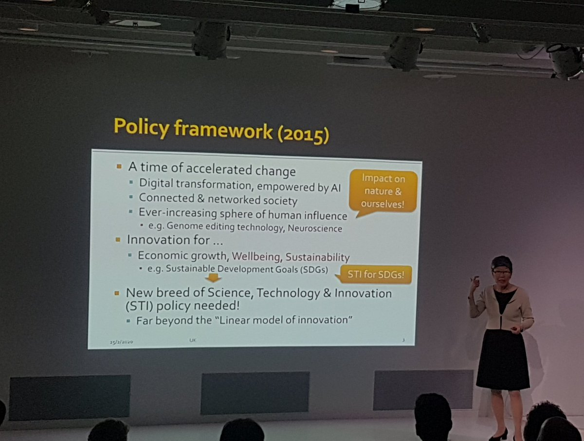 Adding Wellbeing & Sustainability as values into Science, Technology & Innovation policy = investing in people & excellence - Society 5.0 Prof Harayama explains transition from tech-driven to human-centred policy-making in Japan. @japanhouseldnpic.twitter.com/4nGv6tGYAC