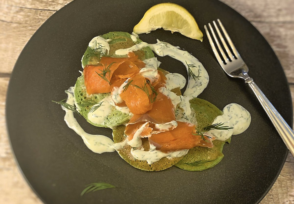 Smoked salmon and spinach pancakes!! Happy Pancake Day Everyone!!   Check out this delicious recipe https://cookpad.com/uk/recipes/11649839-spinach-pancakes-smoked-salmon-with-a-creme-fraiche-and-dill?invite_token=EAoFnqm96LtDLQKooFa5tddM…  #PancakeDay #food #picoftheday