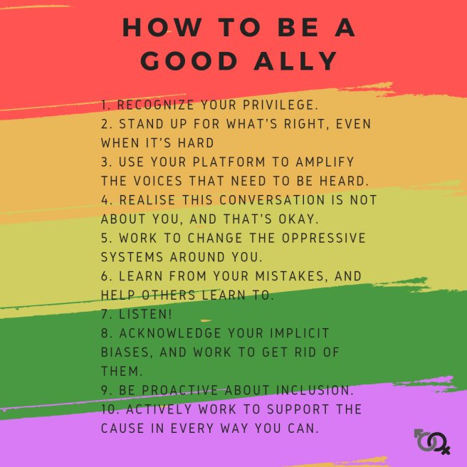 Let's all be good allies! How can you do your part?  Follow us for all things inclusion, equity, tolerance, mental health in the  gaming community——————————————— #MentalHealthMatters #overcominganxiety #inclusion #streamer #gamers #videogames #allies #feminist #lgbt