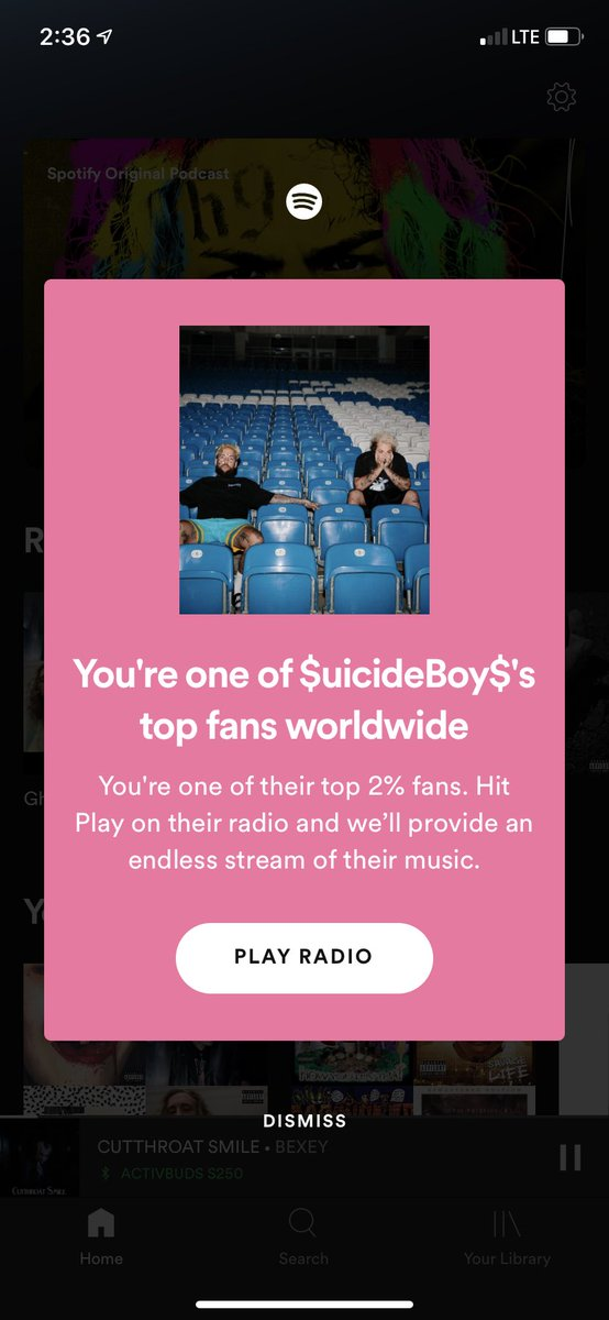 Straight verified #suicideboys #ftp @Spotify