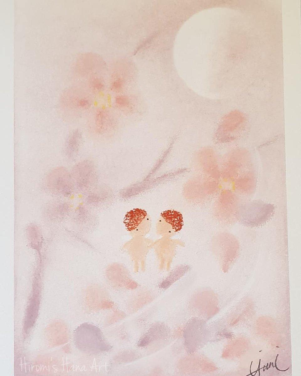 穏やかな春が来るといいね。。  #pastelart #art #artistsontwitter #healingart #photography #monochrome #lightsandshadows #light #flowerart #angels #パステルアート #パステル画 #モノクロ #ヒーリングアート #写真好きな人と繋がりたい #絵描きさんと繋がりたい #光と影 #光