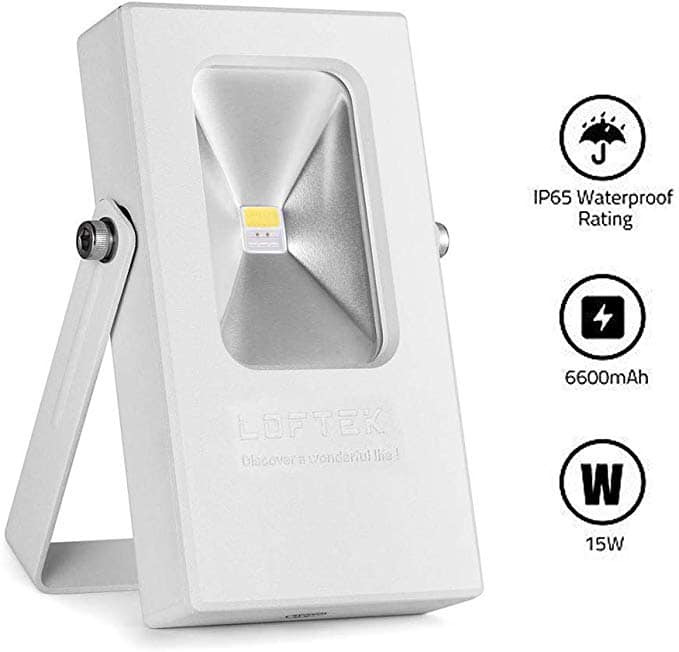 LOFTEK 15W #Rechargeable #Spot #Light and Work Light, 7 Hours lasting #Battery Powered #Flood #Light with USB Ports and SOS Modes -   Price - $19.49(70% off)🔥😃🏃🏻♂️🤩  🙌🏻Like, Follow, and RT for More Deals🙌🏻