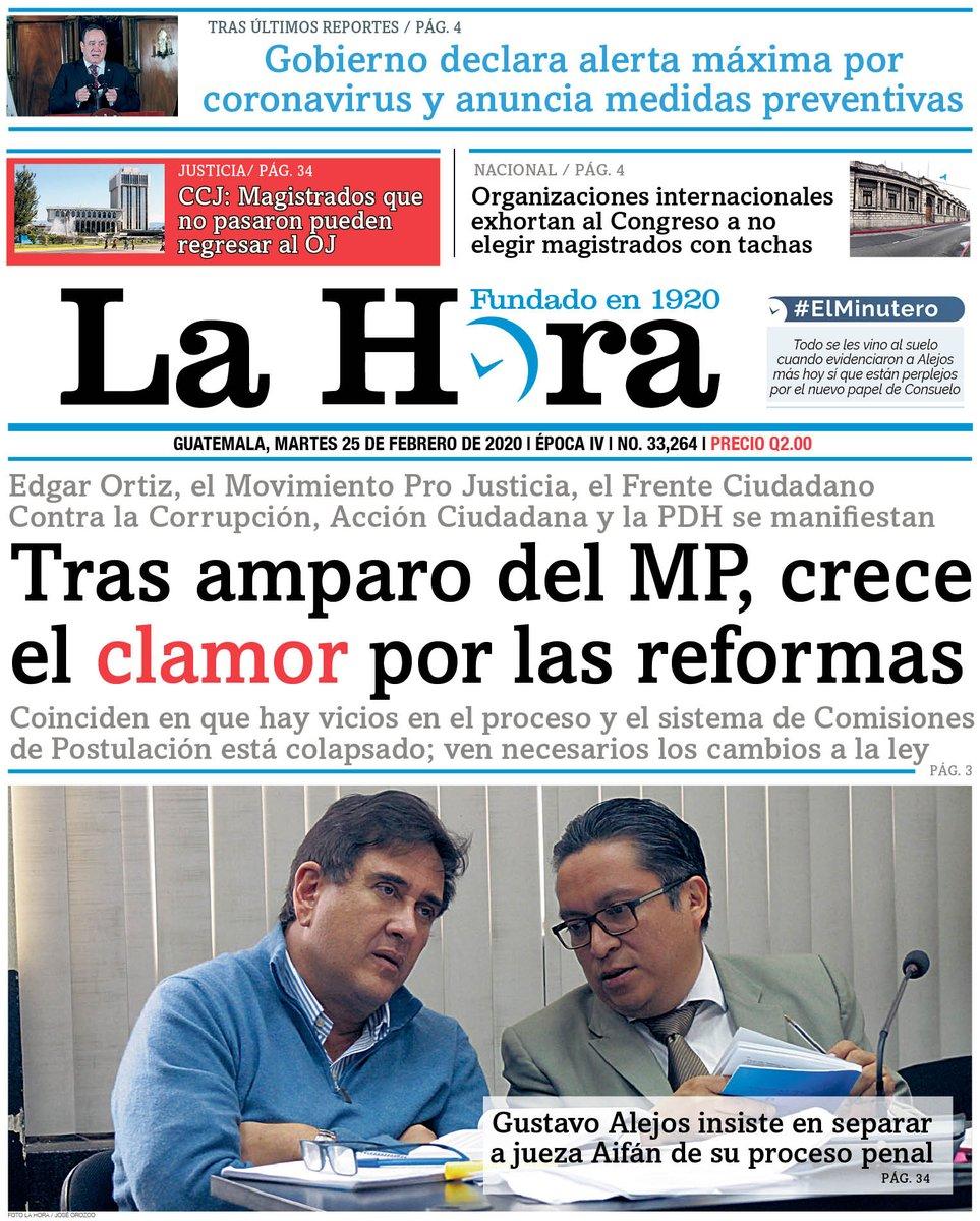 """test Twitter Media - PORTADA DE HOY: """"Tras amparo del MP, crece el clamor por las reformas"""" https://t.co/KoF3d6iMXa"""