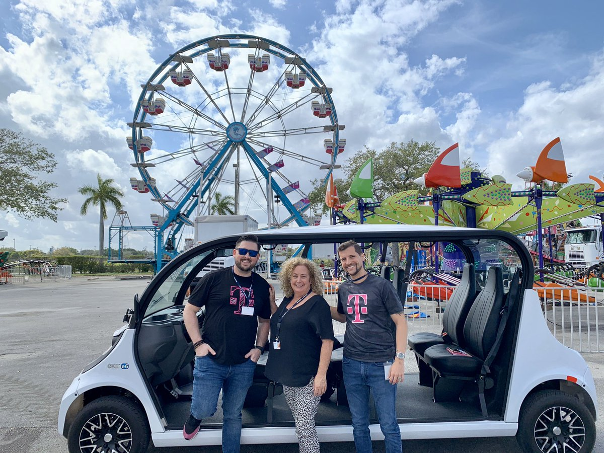 Visiting kiddieland as they setup for the fair... 🤹♀️🎪 Make sure you visit T-Mobile's event team once it starts in March-April! #AreYouWithUs