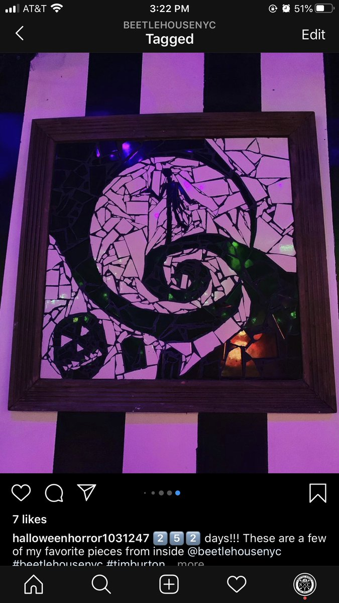 Always amazed by the awesome artwork that others have donated to us!! Want to show your artwork on our walls? Stop by and drop it off!!  #beetlehouse #creepy #scary #delicious #todiefor #halloween #la #nyc #bar #restaurant #timburton