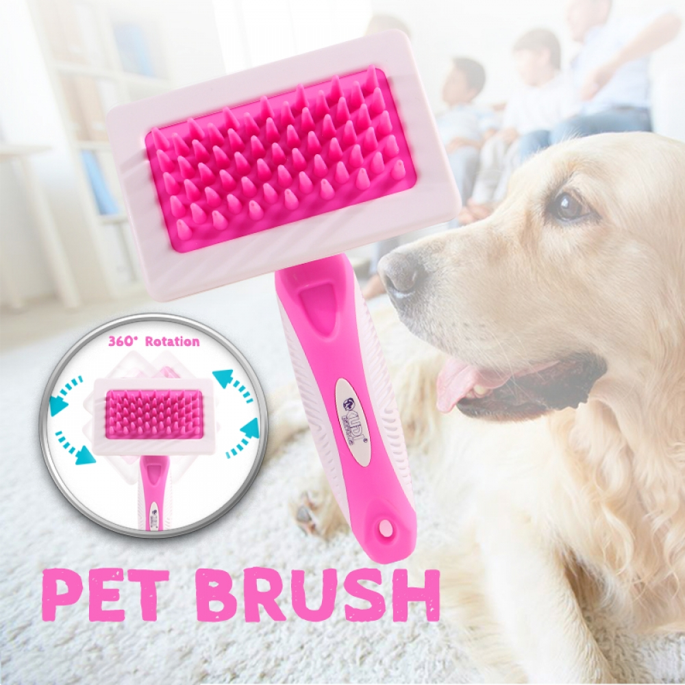#animal #cute Colorful Soft Grooming Brush for Pets