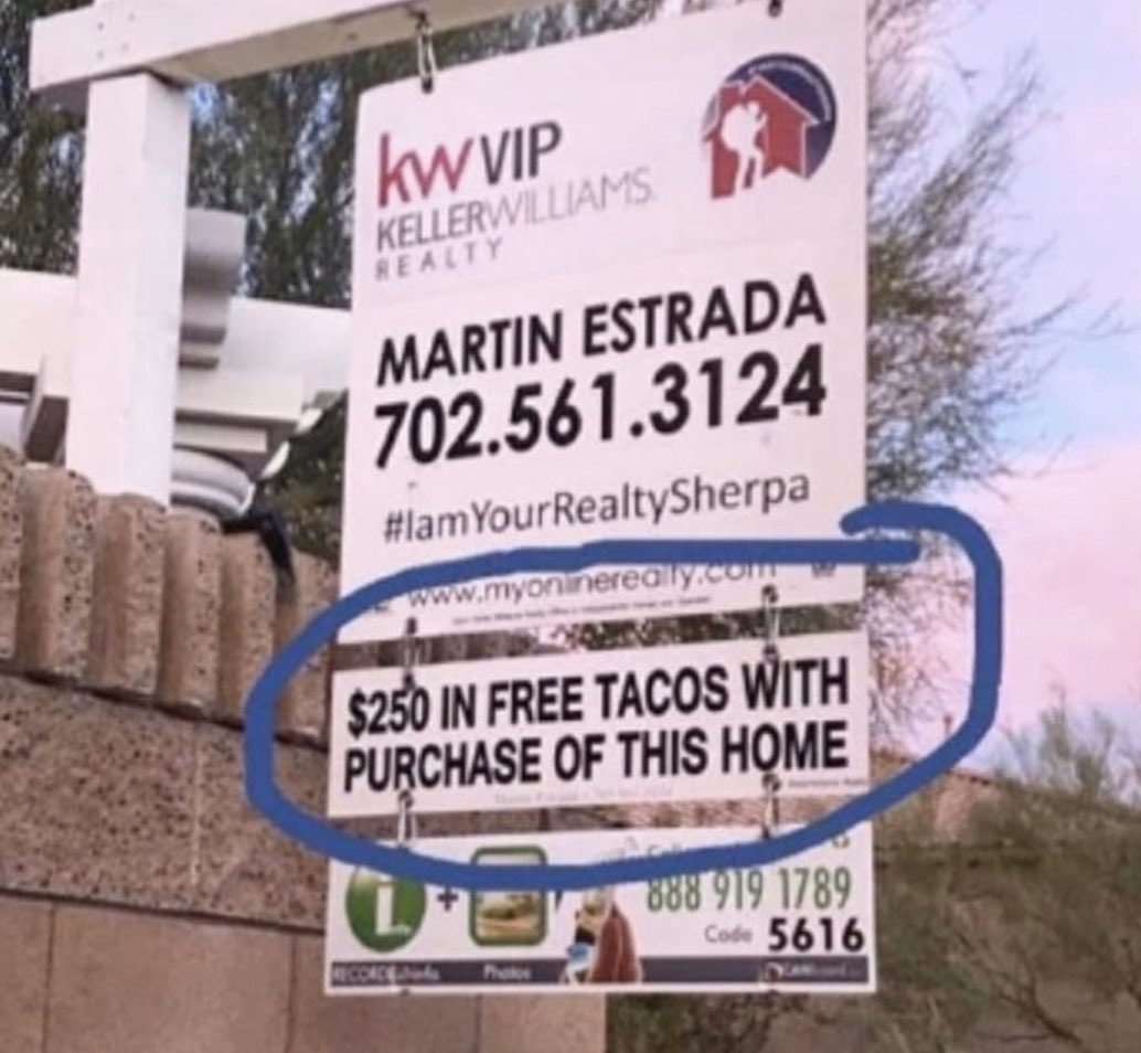 Found the best realtor in the game... #TacoTuesday