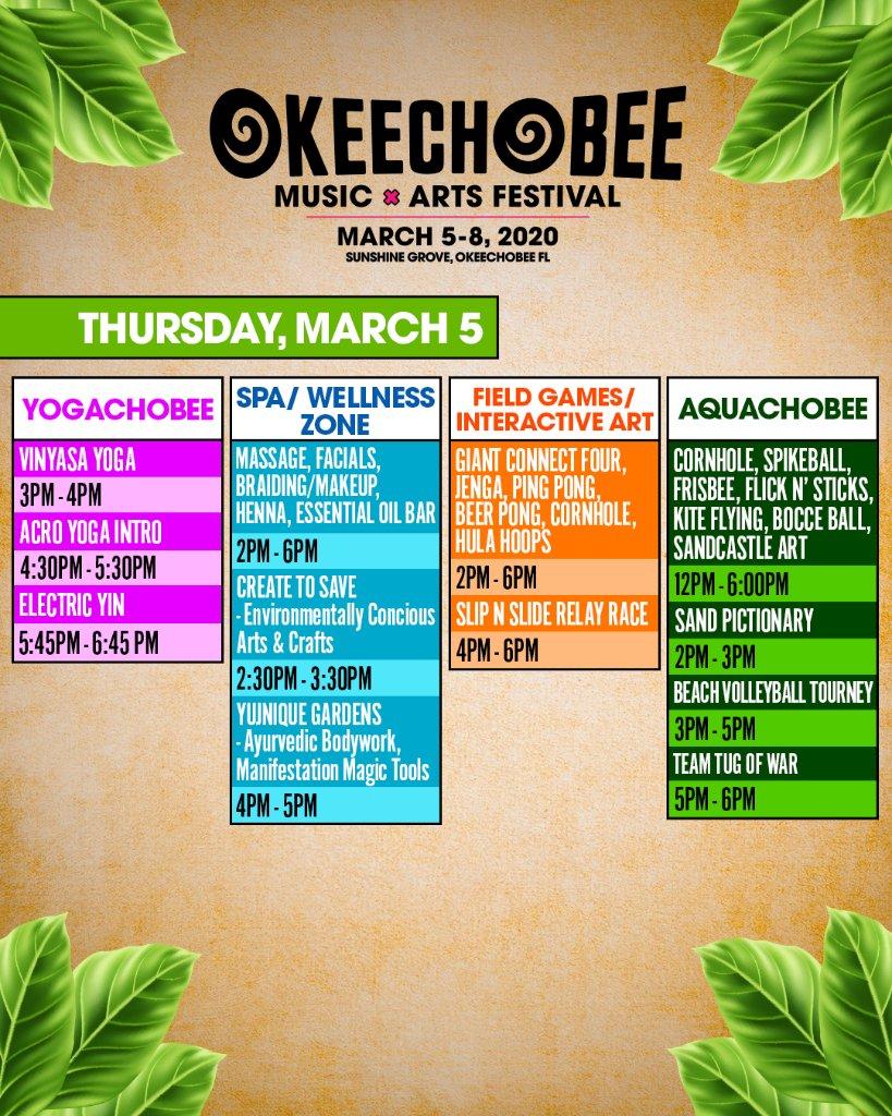 okeechobee festival schedule 2020