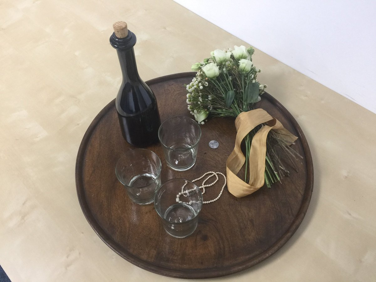 Wedding day rehearsal props - for a valuable session a few days before we shot the interior wedding scenes. I now pass the (virtual) director's baton to the amazing Jamie Payne for Eps 3 & 4. The Beardsleys here we come! #Outlander  #OutlanderS5 <br>http://pic.twitter.com/OCYVoeGdtk