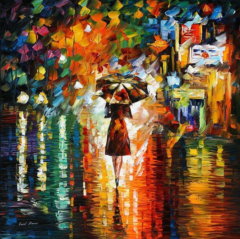RAIN PRINCESS 1 — PALETTE KNIFE Oil Painting On Canvas By Leonid Afremov https://afremov.com/rain-princess.html… #oilpainter #abstractartwork #wallartideaspic.twitter.com/9zvcjscHXO