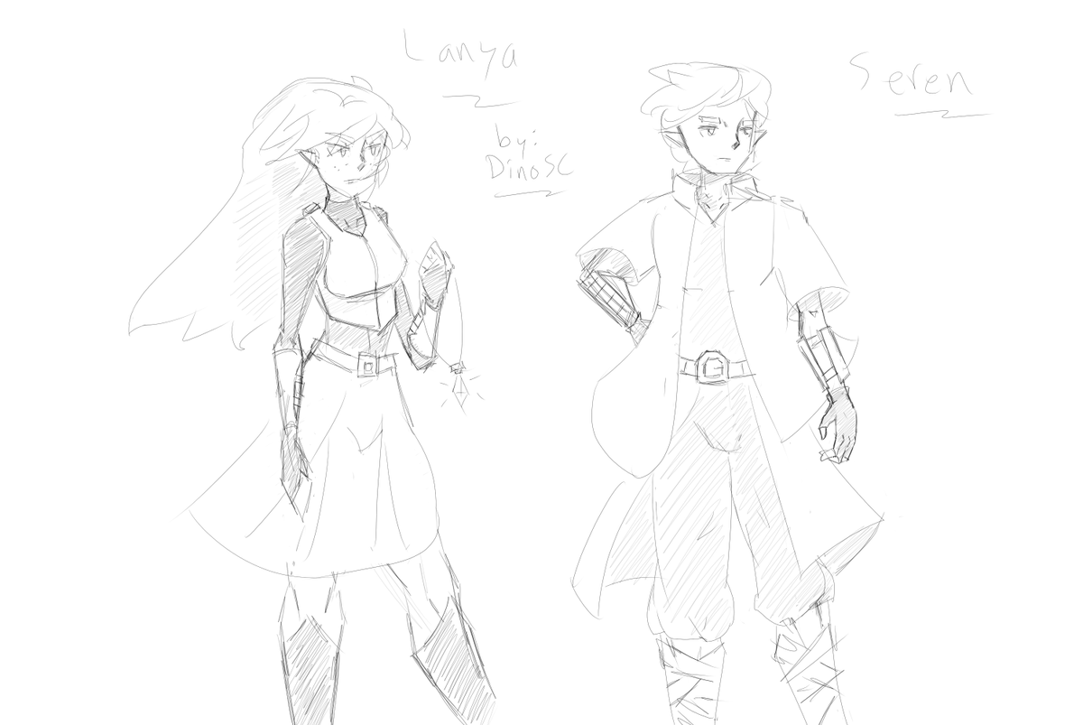 Some more sketches of my characters for my games. #anime #drawing #characterdesign #elf #fantasy #sketch #originalcharacter #conceptart #art #AnimeGirl #digitalart