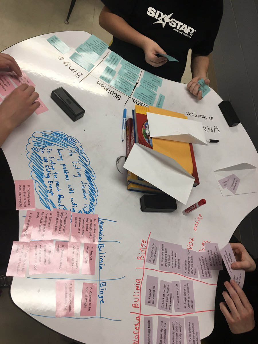 7th grade students learned about the different types of eating disorders today! @OakvilleMiddle