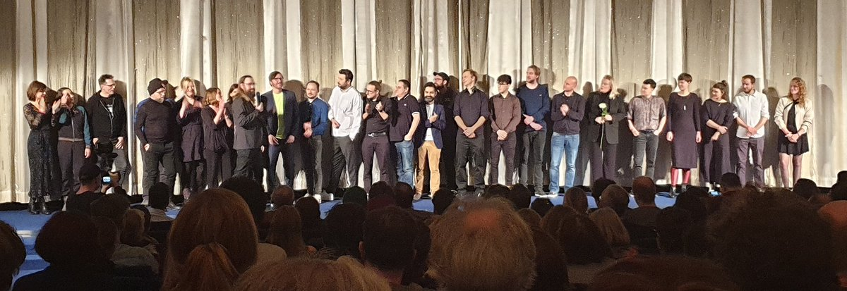 The director introduced every single one of these crew members which is so wonderful that they all got their moment. Shame I don't speak German though! #Berlinale2020pic.twitter.com/q7UMWlLtxq