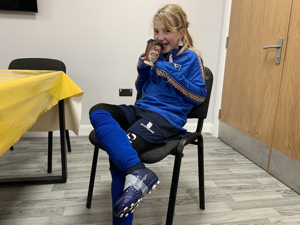 Milly Rose happy with her @laceezebands to stop her laces coming undone. #MansfieldTown #Girls #Football #Bands