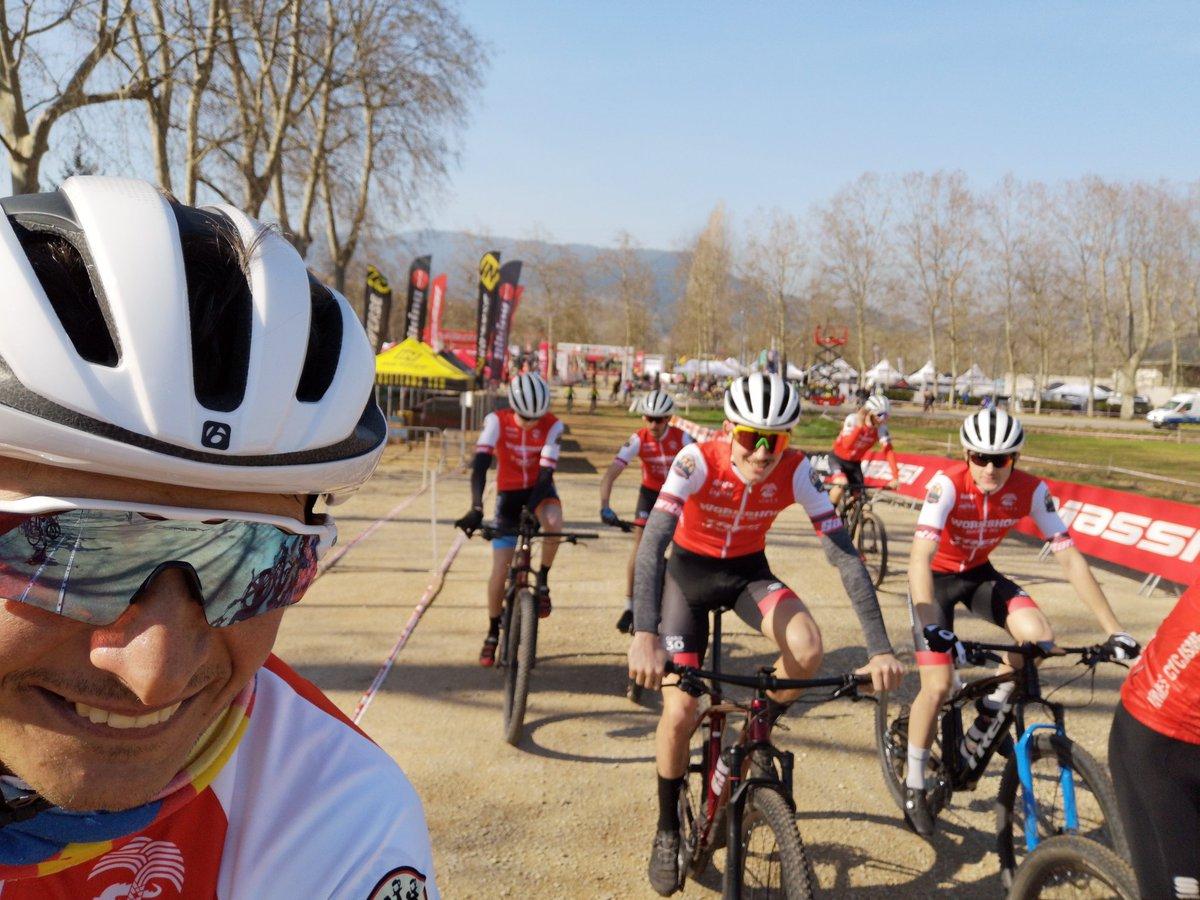 Banyoles Super Cup was #great so far with that team 🔥👍😎 #Team #teammate #teamsupport #workshopbikes #trekbikes #mtb #bike #cycling #workshop #race #racing #xc #xco #btt #bontrager #trek #nofilter #Banyoles #copacatalana #supercupmassi #ogival #MuleBar #santini