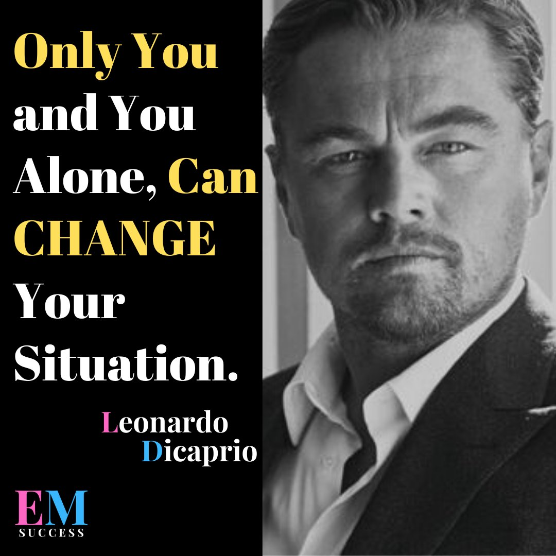 Only You And You Alone, Can CHANGE Your Situation Remember that you are the only one that can really set your path #leonardodicapriofan #leonardodicaprioedit #passiveincome #makingmoneyonline #shopify #LeonardoDiCaprio #leonardodicaprioedits #entrepreneurjourneypic.twitter.com/gvCaLAJuVq