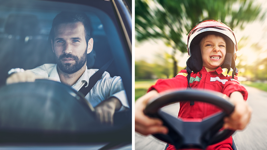 How we actually drive vs. how our parents THINK we drive.