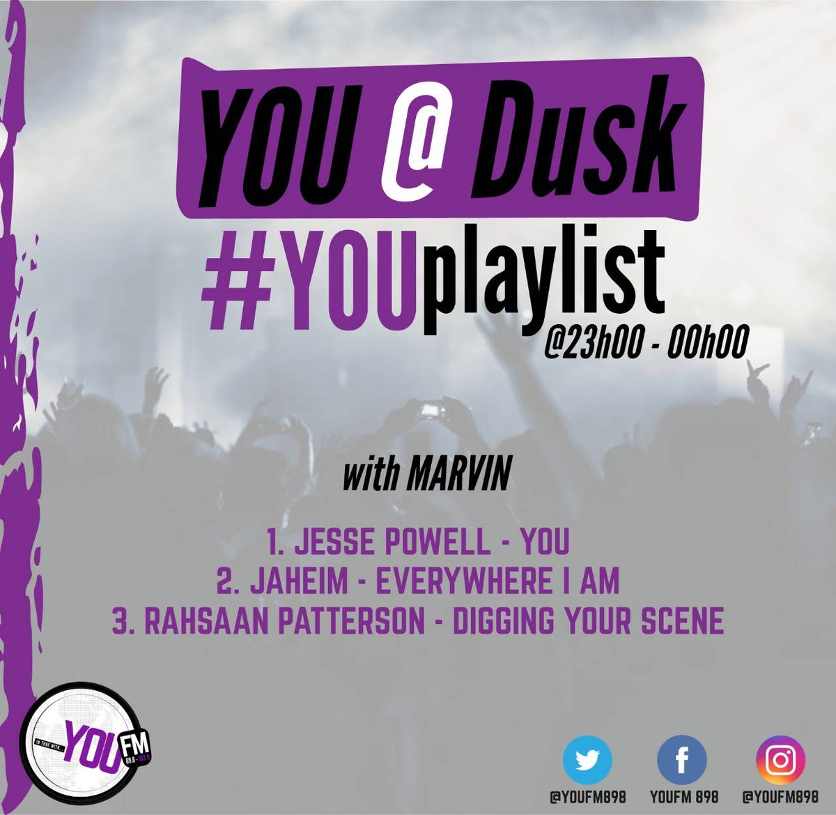 Tune into the sounds of Mariah Carey, Jaheim and more on #YOUPlaylist  #YOUAtDusk with @vincentmaseko1  DSTV Channel 842  #CelebratingYOU #YOUInspireUs