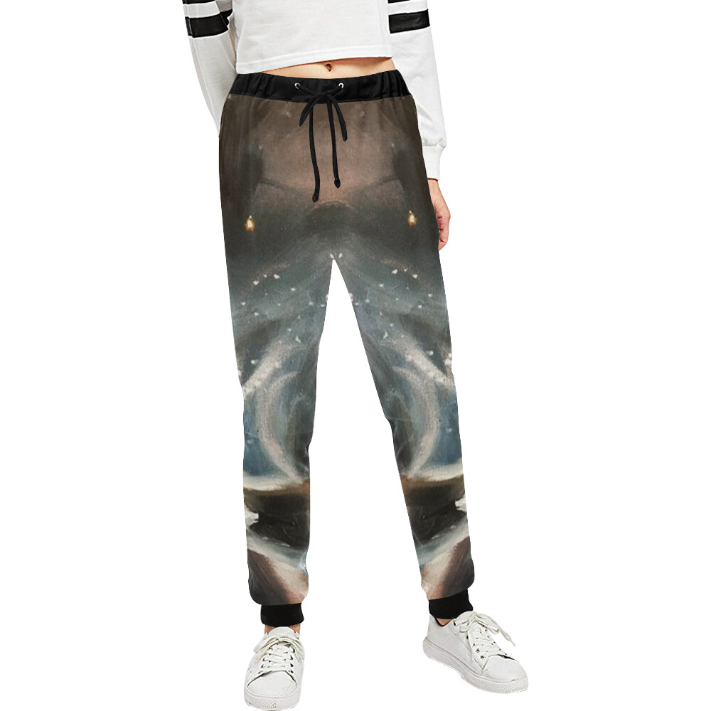 These women's sweats featuring my galaxy oil painting is available right now! Get it today.    #art #artist #yogapants #leggings #painting #oilpainting